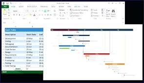 How To Create A Chart In Excel Works Timeline Gantt 2010