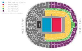 Sunderland Empire Seating Chart Wembley Stadium Seating Plan Pitch Standing