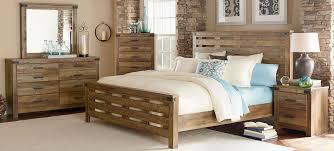 Standard Furniture Montana Rustic Buckskin Panel Bedroom Set ...