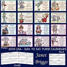 easy calendars 2020 usa sun to sat easy fold purse calendars pearls of wisdom humorous bumper kit
