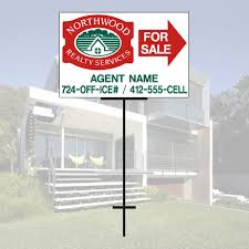 aluminum signs faces directional sign on metal t bar