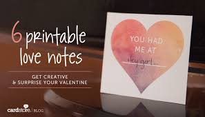 Free Printable Anniversary Cards For Her Inspiration 48 Printable Love Notes Get Creative Surprise Your Valentine