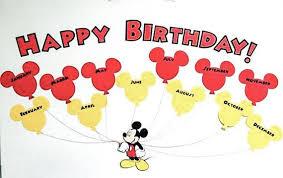 New Item Mickey Mouse Birthday Chart Disney Classroom