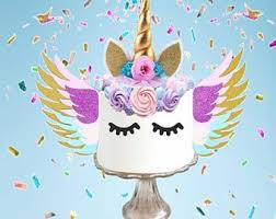 Unicorn Cake Kit Etsy