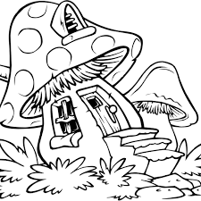 Mushroom Coloring Page - GetColoringPages.com