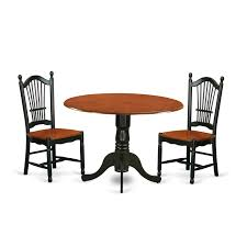 East West Furniture Dldo3 Bch W 3 Pc Dublin Kitchen Table Set Dining