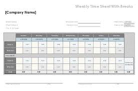 Excel Weekly Timesheet Template Time Sheet Template Excel Time Sheet Time Sheet Template For Excel