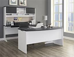 amazoncom ameriwood home pursuit ushaped desk hutch bundle gray kitchen u0026 dining kitchen office desk n89 desk