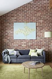 Image Ideas Brick Wall Grey Sofa Pinterest Brick Wall Grey Sofa Living Rooms Home Brick Exposed Brick