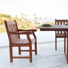 atlantic brown slatted wood garden armchair
