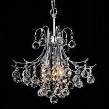 Otis Designs Lighting Fixtures Namika 3 Light Crystal And Chrome Chandelier Overstock