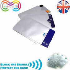 details about credit card sleeve rfid blocking sleeve contactless identity theft uk same day