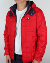 Fila Vintage Passo Quilted Jacket Red,coat,padded,hooded,mens & Fila Vintage Quilted Hooded Jacket Red Adamdwight.com