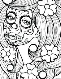 Day Of Dead Coloring Pages Coloring Pages Day Of The Dead Free