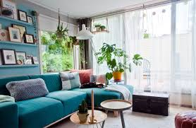 colorful living room. in the netherlands, a houseboat offers colorful living on water | design*sponge room