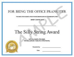 Office Award Funny Employee Office Awards The Silly String Award Flickr