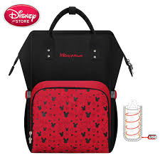 <b>Disney</b> Baby <b>Diaper</b> Bags <b>USB Heating</b> waterproof Maternity <b>Nappy</b> ...