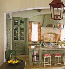 French Country Island Kitchen Very Small French Country Kitchen With Marble Top Island And