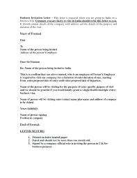 invitation letter for visa sample plus company invitation letter  invitation