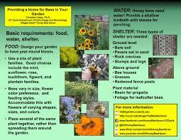 handout describing the basics of gardening for bees