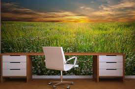 office wallpaper designs. Interior Design, Nature Wall Murals Wallpaper For Home Office Interior: Beautify The House With Designs P