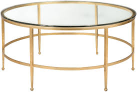 safavieh couture glass top round coffee table uk amh