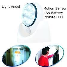 outdoor led motion sensor light lot light angel battery operated cordless led motion sensor activated led