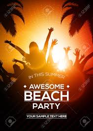 Editable Vector Summer Beach Party Flyer Template | A4 Size Design ...