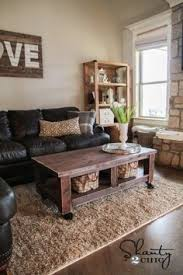learn how to build a coffee table on wheels free plans and tutorial at shanty