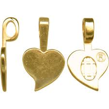 aanraku gold plated jewelry bail cast large heart