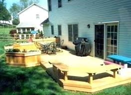 Backyard Deck Designs Plans Awesome Inspiration Ideas