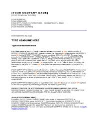 Press Release Company Won An Award Template Word Pdf By