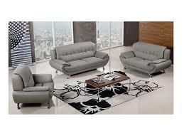 modern 3pcs grey faux leather sofa
