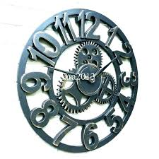 moving gear wall clock gears wall clock moving gear wall clock clocks with gears medium image moving gear wall clock