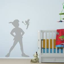 peter pan shadow removable vinyl wall