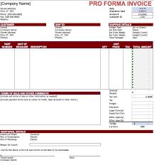 Bill Sample Microsoft Proforma Invoice Template Microsoft Excel Commercial Invoice Sample 13