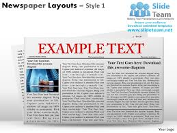 newspaper ppt template newspaper layouts style 1 powerpoint presentation slides ppt templates