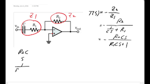 Me 340 Transfer Function And Bode Plot Of An Op Amp High Pass Filter