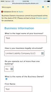 Allstate Online Quote Simple Allstate Launches An Unimpressive Small Business Portal