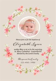 Baptism Invitations Templates Floral Baby Baptism Christening Invitation Template