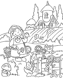 Anne Story Flower Garden Coloring Pages Printable Flower Coloring