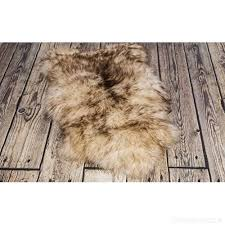 spiced brown sheepskin rug genuine thick wool best quality s 100 110 cm b00nd8warw