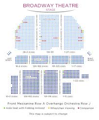 Broad Theater Seating Chart West Side Story