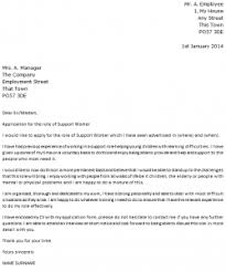 Support Worker Cover Letter Example Icover Org Uk