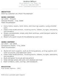 Clean Resume Template Interesting Hospital Housekeeper Sample Resume Hospital Housekeeping Manager