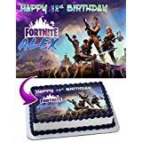 Fortnite Battle Royale Edible Personalized Birthday Cake Topper