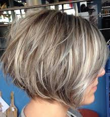 textured um length bob bage hairstyle with fine hair trendy stacked hairstyles for short