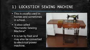 Kinds Of Sewing Machine And Their Functions