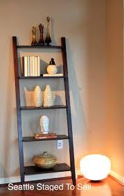 image ladder bookshelf design simple furniture. Beautiful Corner Lighting With Simple Ladder Bookshelves Image Bookshelf Design Furniture