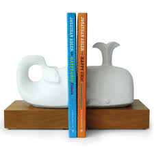 menagerie whale bookend set  pottery  jonathan adler